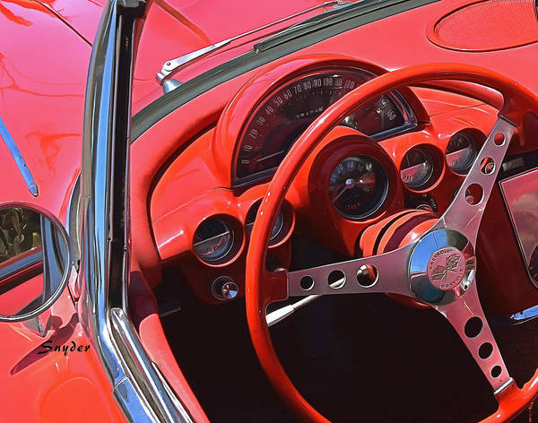Photograph - 59 Corvette Steering Wheel by Floyd Snyder