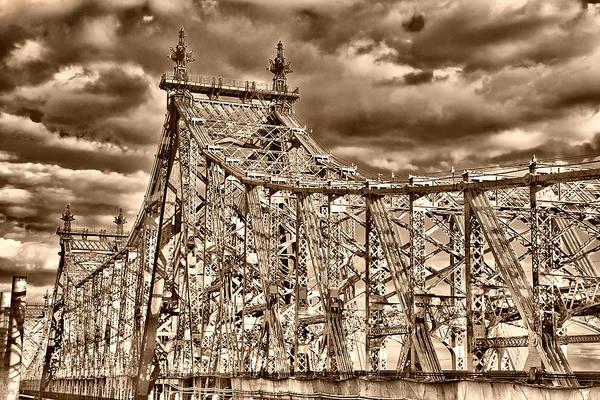 Photograph - 59 Street Bridge Before Sunset by Val Black Russian Tourchin