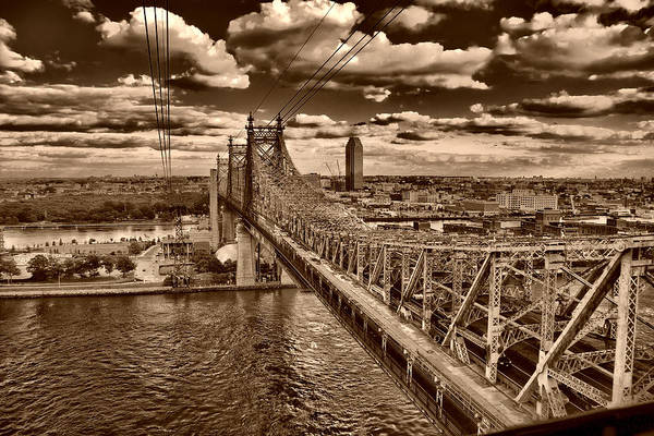 Photograph - 59 Street Bridge Sepia 1 by Val Black Russian Tourchin