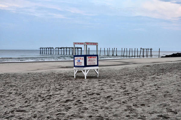 Photograph - 59th Street Pier In Ocean City by Bill Cannon