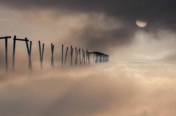 Wall Art - Photograph - 59th Street Pier Sun Breaking On A Foggy Day by Bill Cannon