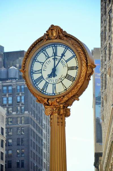 Photograph - 5th Avenue Building Clock - New York by Marianna Mills