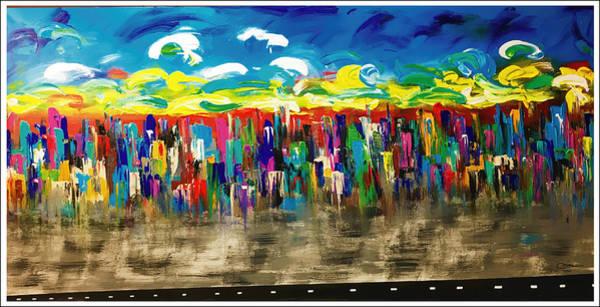Wall Art - Painting - 5th Avenue Manhattan by Mac Worthington