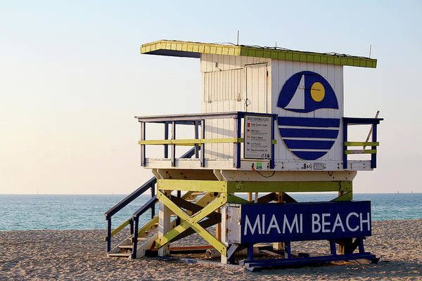 Wall Art - Photograph - 5th Street Lifeguard Tower by Art Block Collections