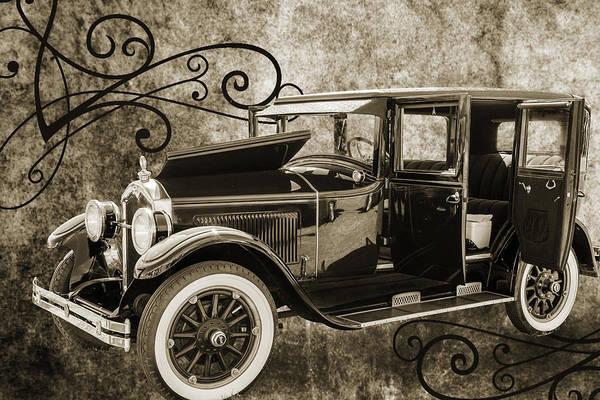 Photograph - 1924 Buick Duchess Antique Vintage Photograph Fine Art Prints 105 by M K Miller