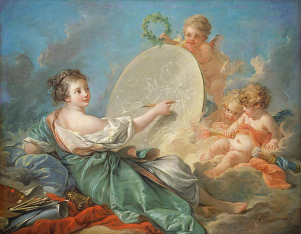 Painting - Allegory Of Painting by Francois Boucher