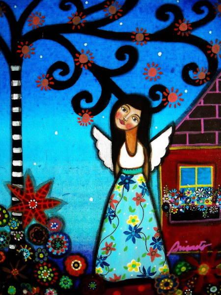 Prisarts Wall Art - Painting - Angel by Pristine Cartera Turkus