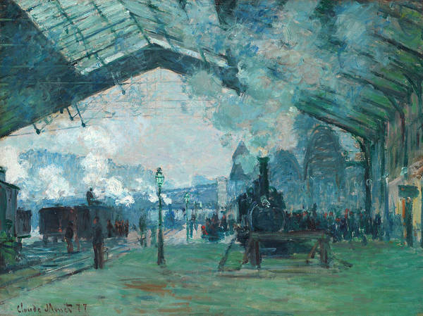 Lazare Painting - Arrival Of The Normandy Train, Gare Saint-lazare by Claude Monet