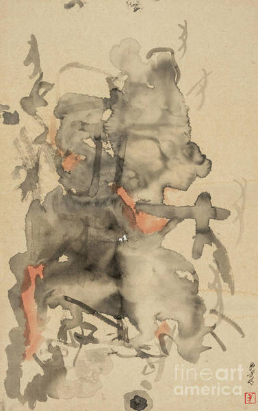 Drawing - Ancient Imagery - The Lingering Charm by Chinese Painter - He Shibin