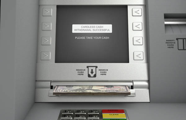 Banking Digital Art - Atm Cardless Cash Withdrawal by Allan Swart