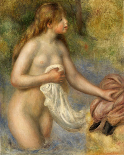 Wall Art - Painting - Bather by Pierre-Auguste Renoir