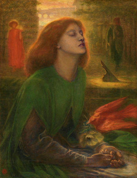 Wall Art - Painting - Beata Beatrix by Dante Gabriel Rossetti