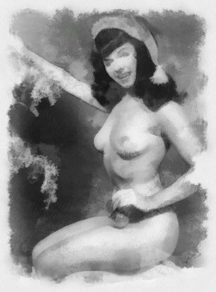 Wall Art - Painting - Bettie Page Pinup  by Esoterica Art Agency