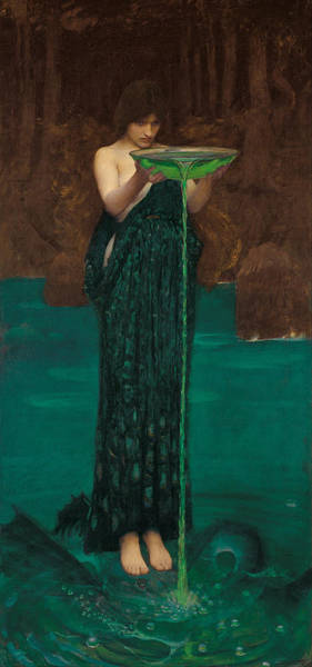 Pre-raphaelite Painting - Circe Invidiosa by John William Waterhouse