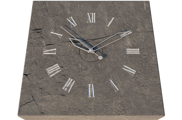 Ancient Architecture Digital Art - Clock On Stone by Allan Swart