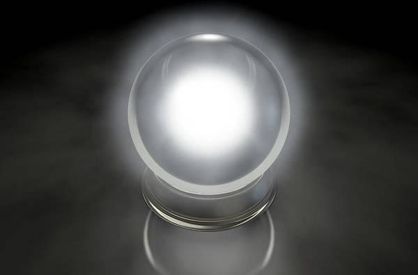 Witchcraft Digital Art - Crystal Ball Glowing by Allan Swart