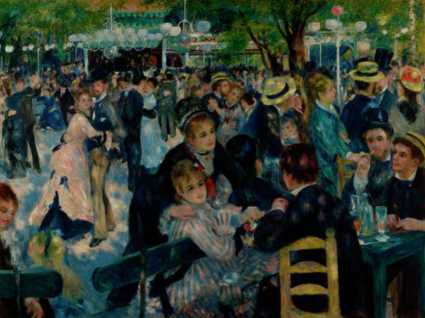 Sunday Afternoon Wall Art - Painting - Dance At Le Moulin De La Galette by Auguste Renoir
