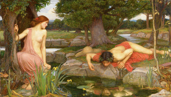 Waterhouse Wall Art - Painting - Echo And Narcissus  by John William Waterhouse