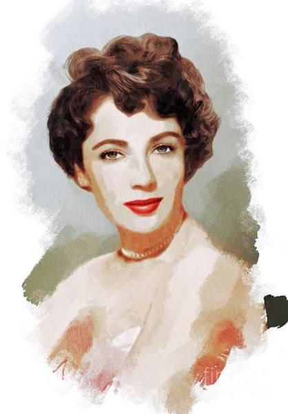 Elizabeth Taylor Painting - Elizabeth Taylor, Vintage Actress by John Springfield