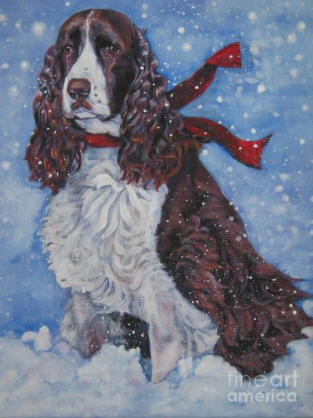 Spaniels Painting - English Springer Spaniel by Lee Ann Shepard