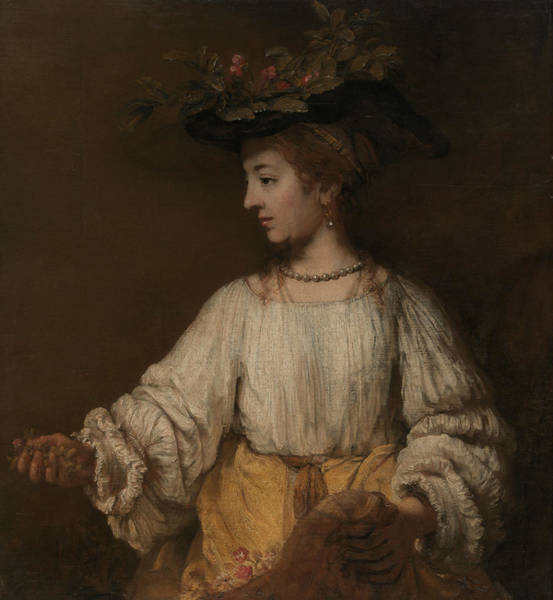 Painting - Flora by Rembrandt