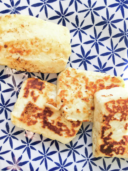 Wall Art - Photograph - Halloumi Cheese by Tom Gowanlock