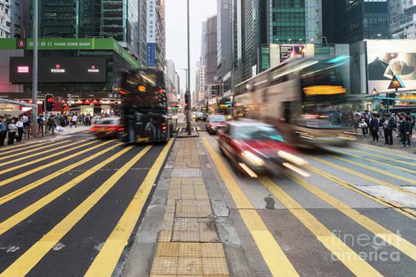 Photograph - Hong Kong Traffic Rush by Didier Marti