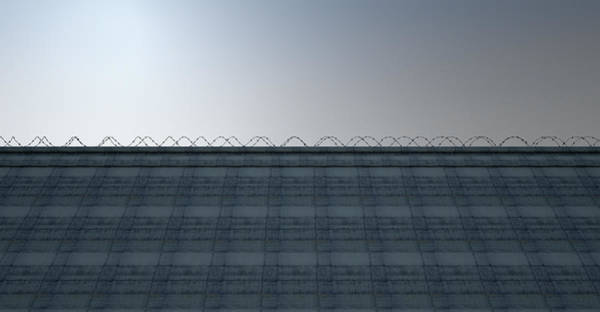 Boundary Digital Art - Huge High Security Wall by Allan Swart