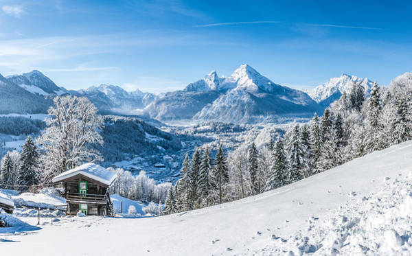 Wall Art - Photograph - Snowy Landscape In The Alps by JR Photography