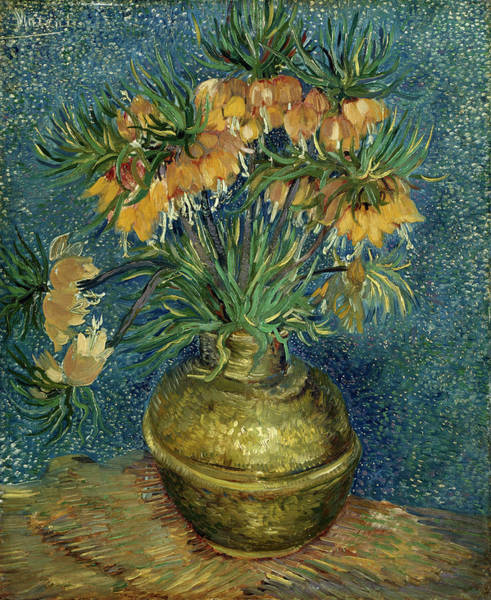 Imperial Painting - Imperial Fritillaries In A Copper Vase by Vincent van Gogh