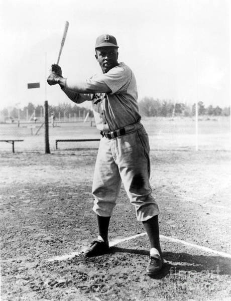 Brooklyn Dodgers Photograph - Jackie Robinson (1919-1972) by Granger