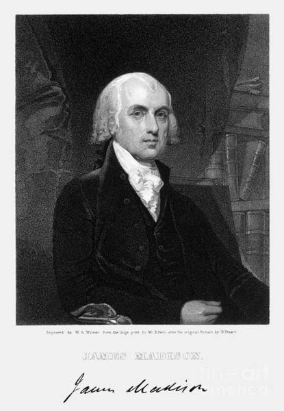 Wall Art - Photograph - James Madison (1751-1836) by Granger