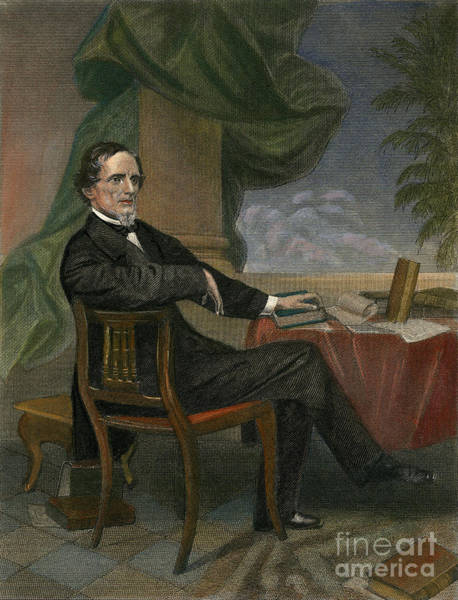Drawing - Jefferson Davis by Granger