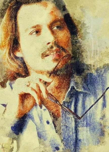 Joe Perry Digital Art - Johnny Depp  by Lilia Kosvintseva