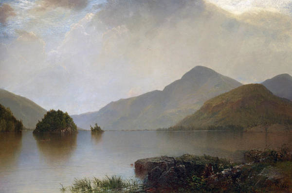 Mountain Lake Painting - Lake George by John Frederick Kensett