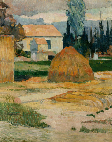Impressionist Style Wall Art - Painting - Landscape Near Arles  by Paul Gauguin