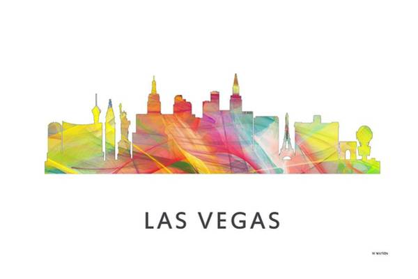 Downtown Las Vegas Digital Art - Las Vegas Nevada Skyline by Marlene Watson