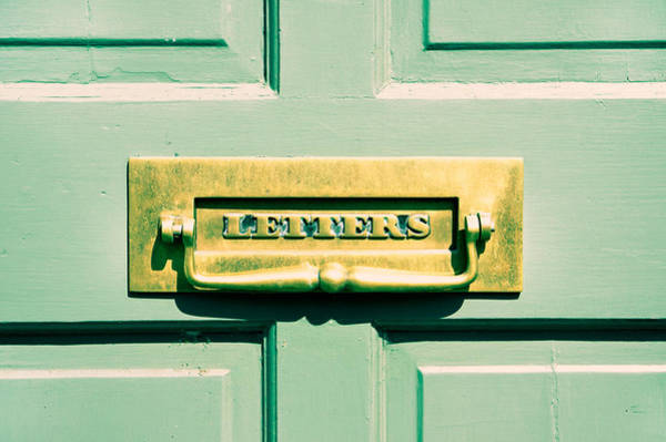 Mail Slot Photograph - Letterbox by Tom Gowanlock