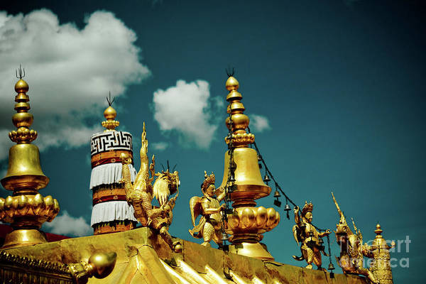 Photograph - Lhasa Jokhang Temple Fragment Tibet Artmif.lv by Raimond Klavins