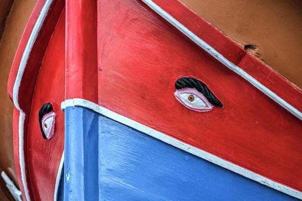 Gozo Wall Art - Photograph - Luzzu - Malta by Joana Kruse