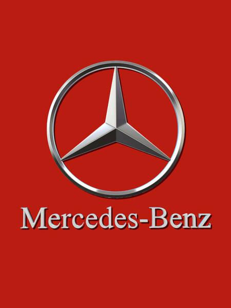 Wall Art - Digital Art - Mercedes Logo by Mercedes Logo