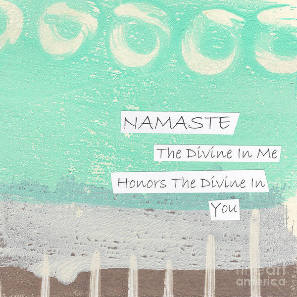 Wall Art - Painting - Namaste by Linda Woods