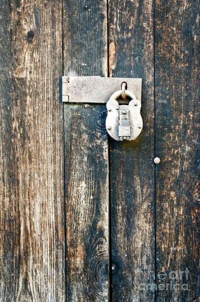 Wall Art - Photograph - Old Wooden Door by Tom Gowanlock