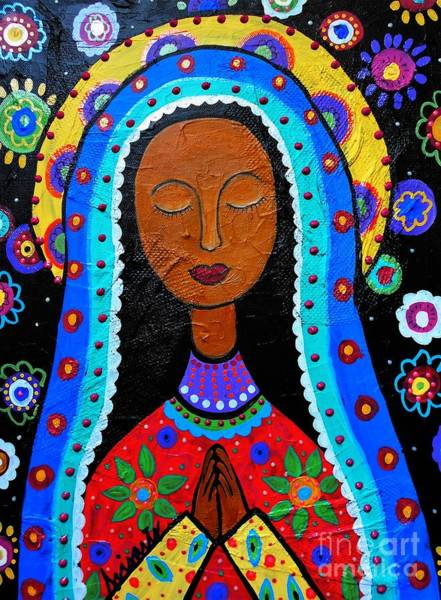 Pristine Wall Art - Painting - Our Lady Of Guadalupe by Pristine Cartera Turkus