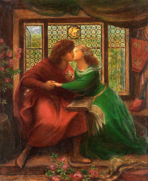 Divine Love Wall Art - Painting - Paolo And Francesca Da Rimini by Dante Gabriel Rossetti