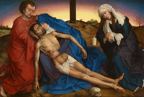 Redeemer Wall Art - Painting - Pieta by Rogier van der Weyden