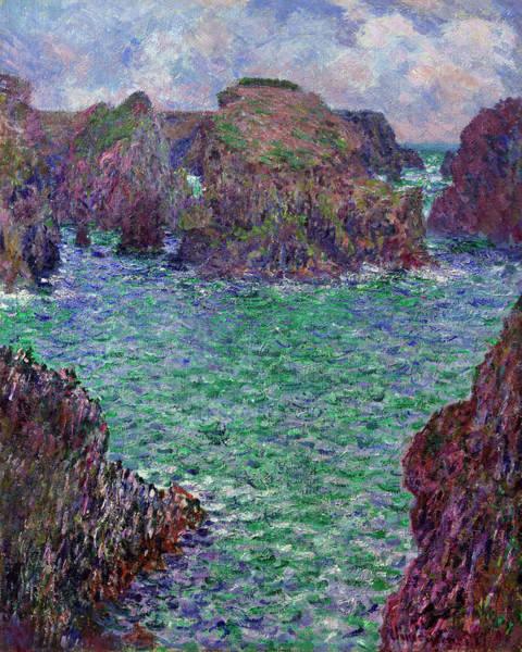 Wall Art - Painting - Port-goulphar, Belle-ile by Claude Monet