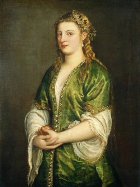 Painting -  Portrait Of A Lady by Titian