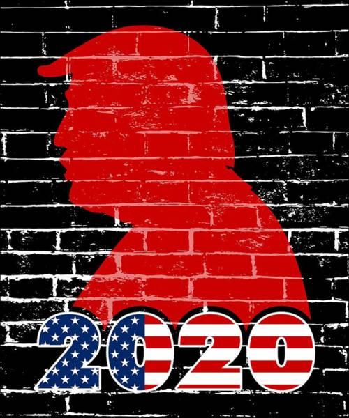 Kag Wall Art - Digital Art - Reelect Trump For President Keep America Great Dark by Nikita Goel