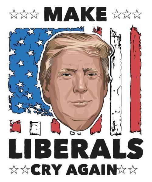 Kag Wall Art - Digital Art - Reelect Trump For President Keep America Great Light by Nikita Goel